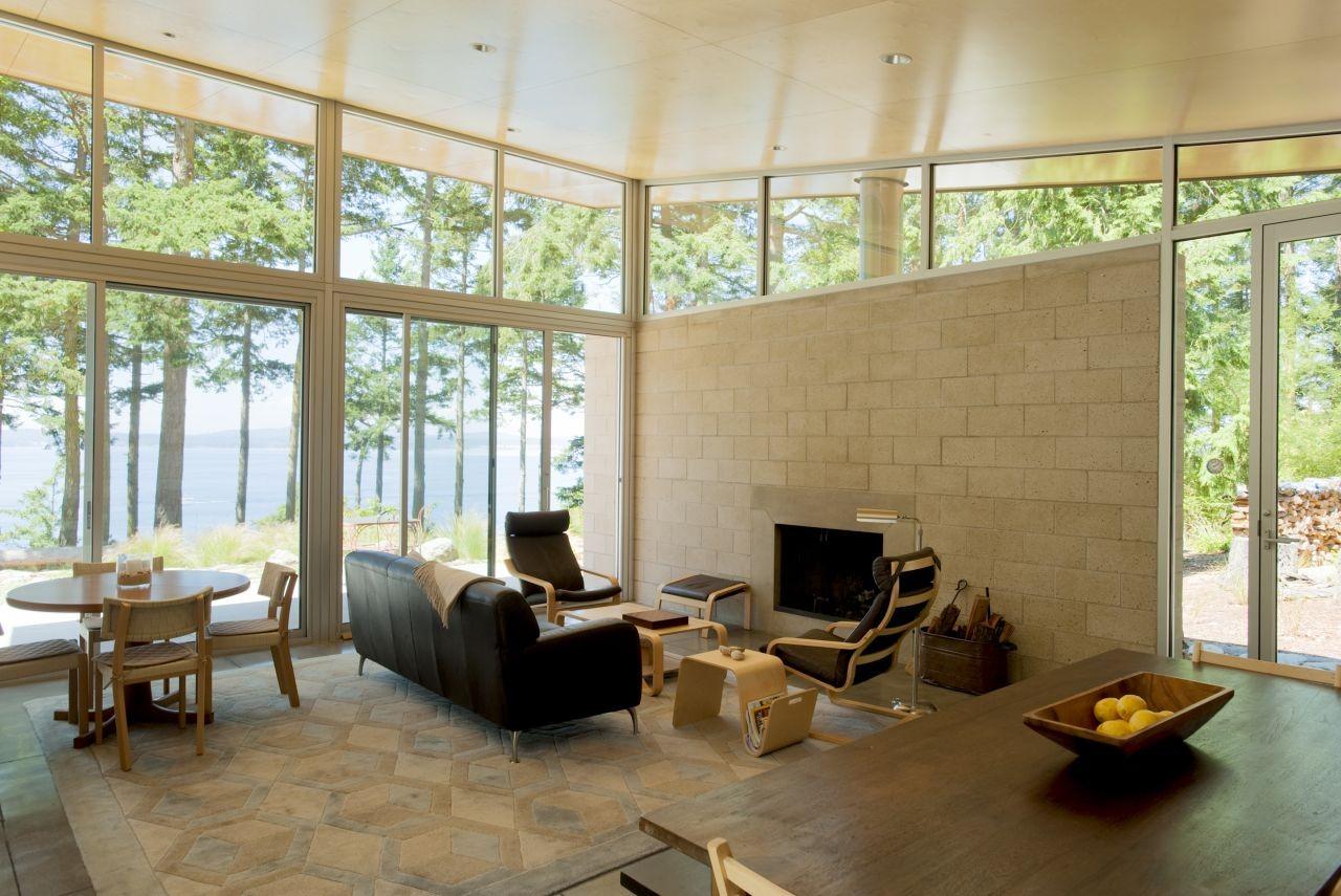 Gallery of lopez island cabin stuart silk architects 5 for Modern log homes design