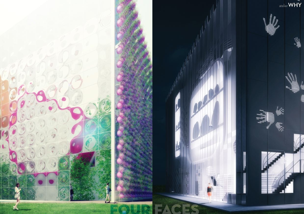 Four Faces: Collider Activity Center Competition Entry / Atelier WHY, Courtesy of Atelier WHY