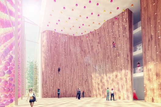 high wall atrium