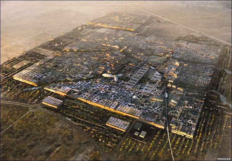 Visualization of Masdar City © Foster + Partners