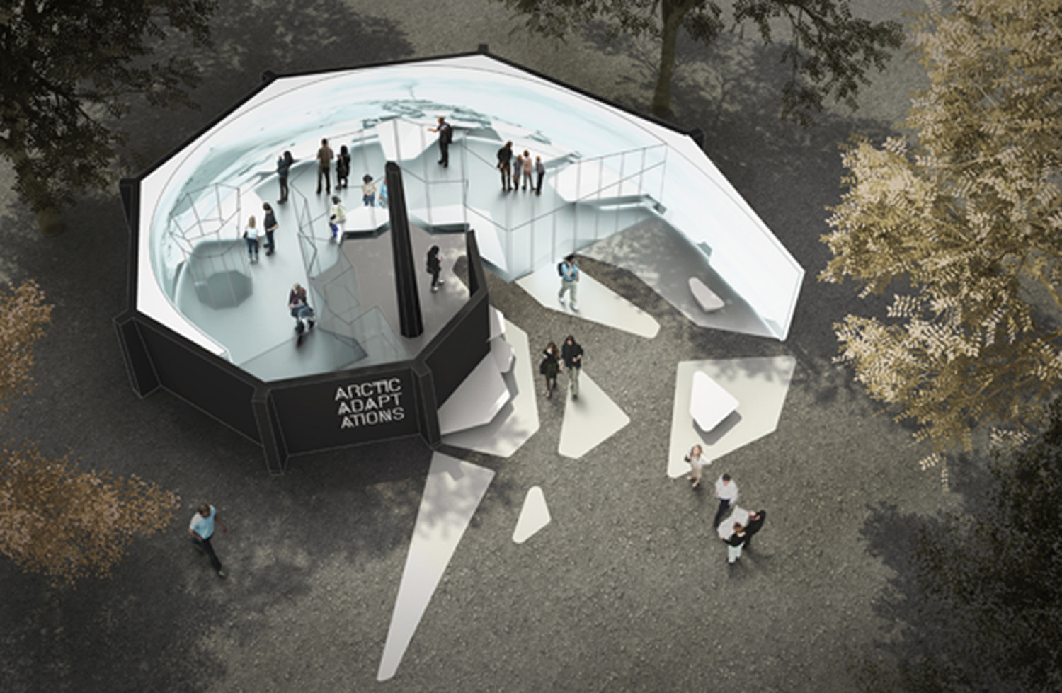 Venice Biennale 2014: Lateral Office to Represent Canada with Nunavut Exhibition , Rendering of Arctic Adaptations exhibition at Venice Pavilion © Lateral Office, 2013
