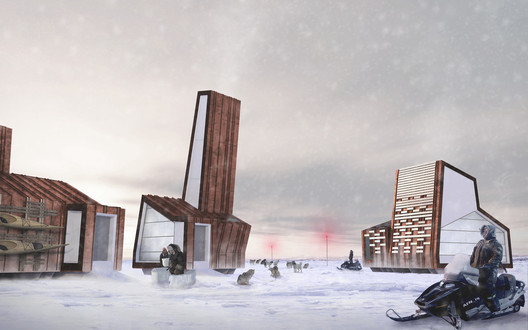 Rendering of Arctic Food Network structures © Lateral Office, 2012