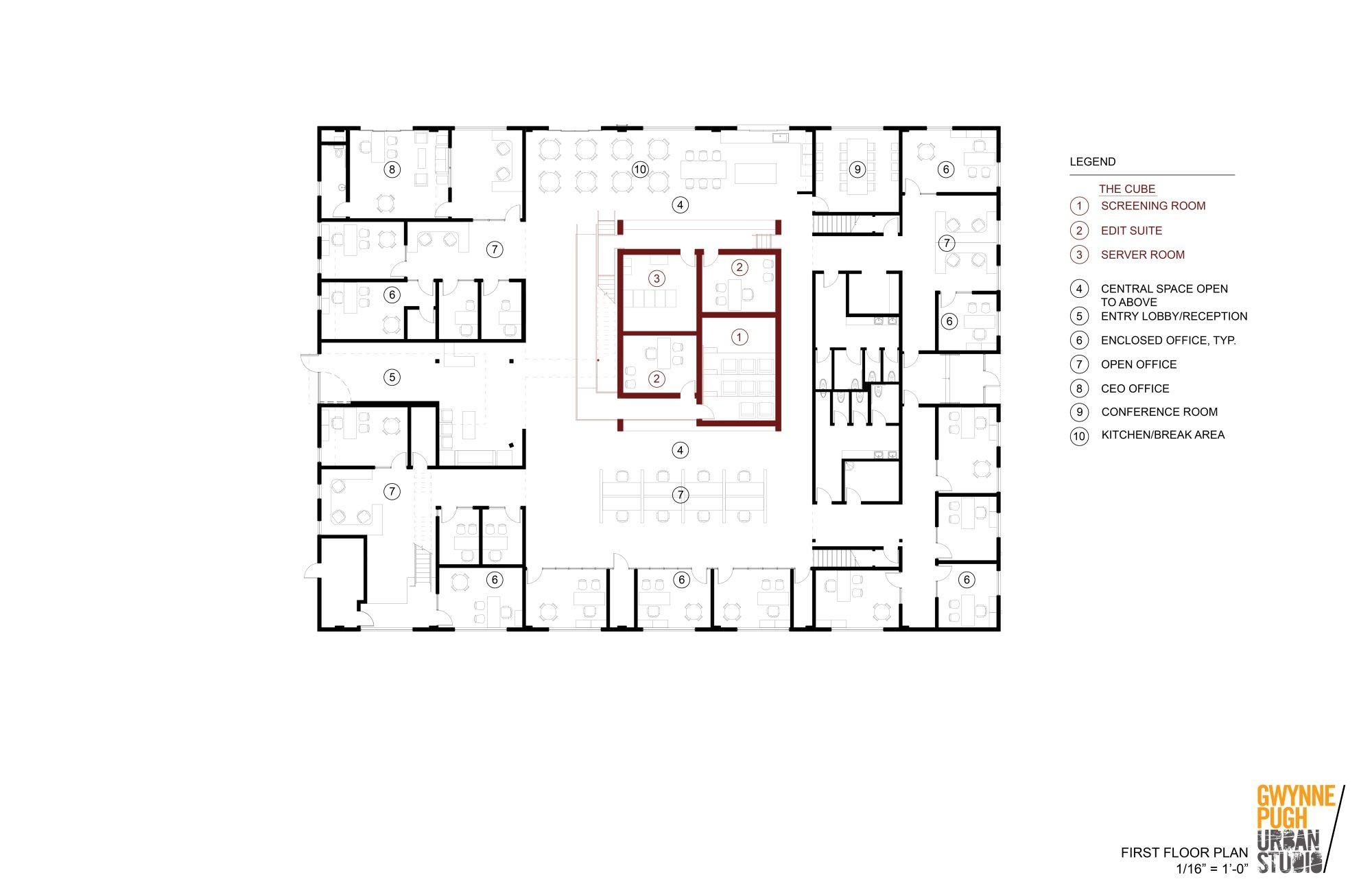 Santa monica animation studio gwynne pugh urban studio for Urban floor plans