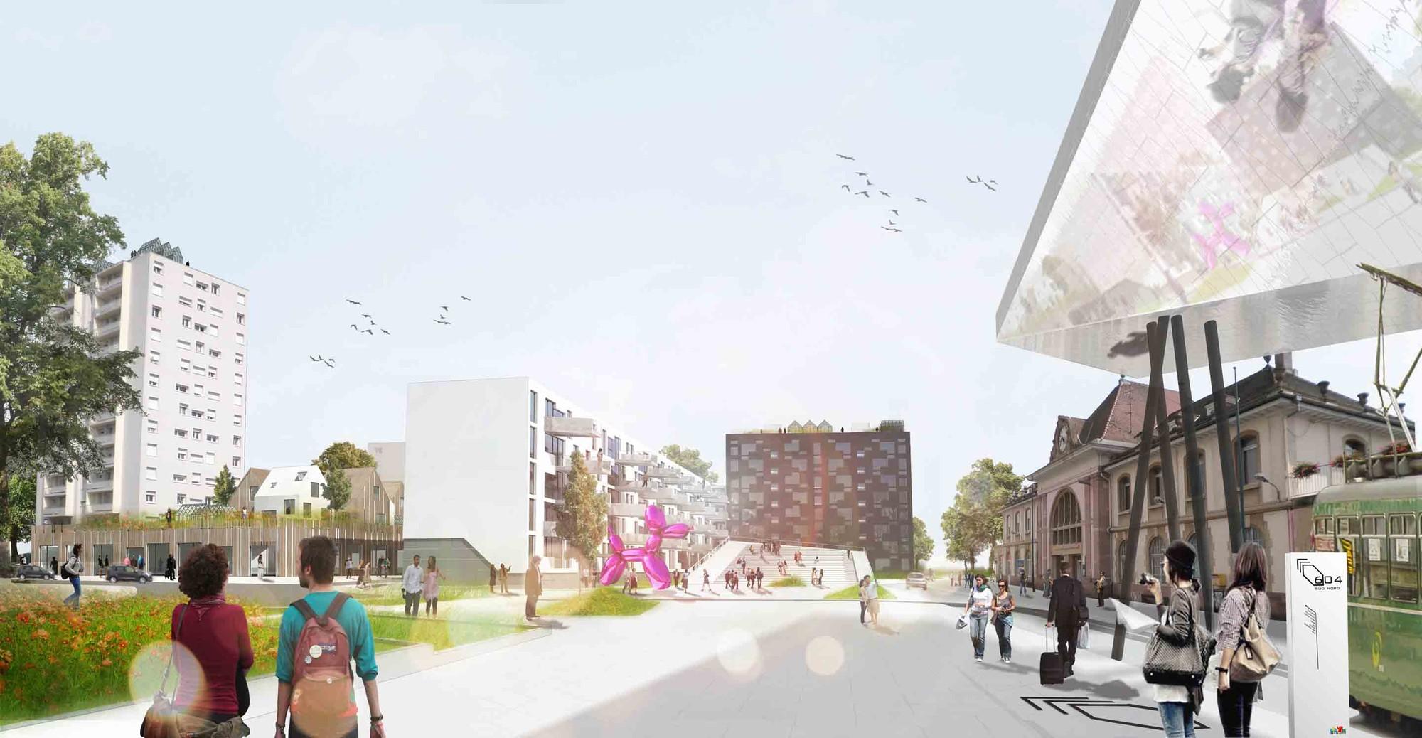 Das Band meiner Stadt (The Band of My City) Winning Proposal / da architecture, © da architecture