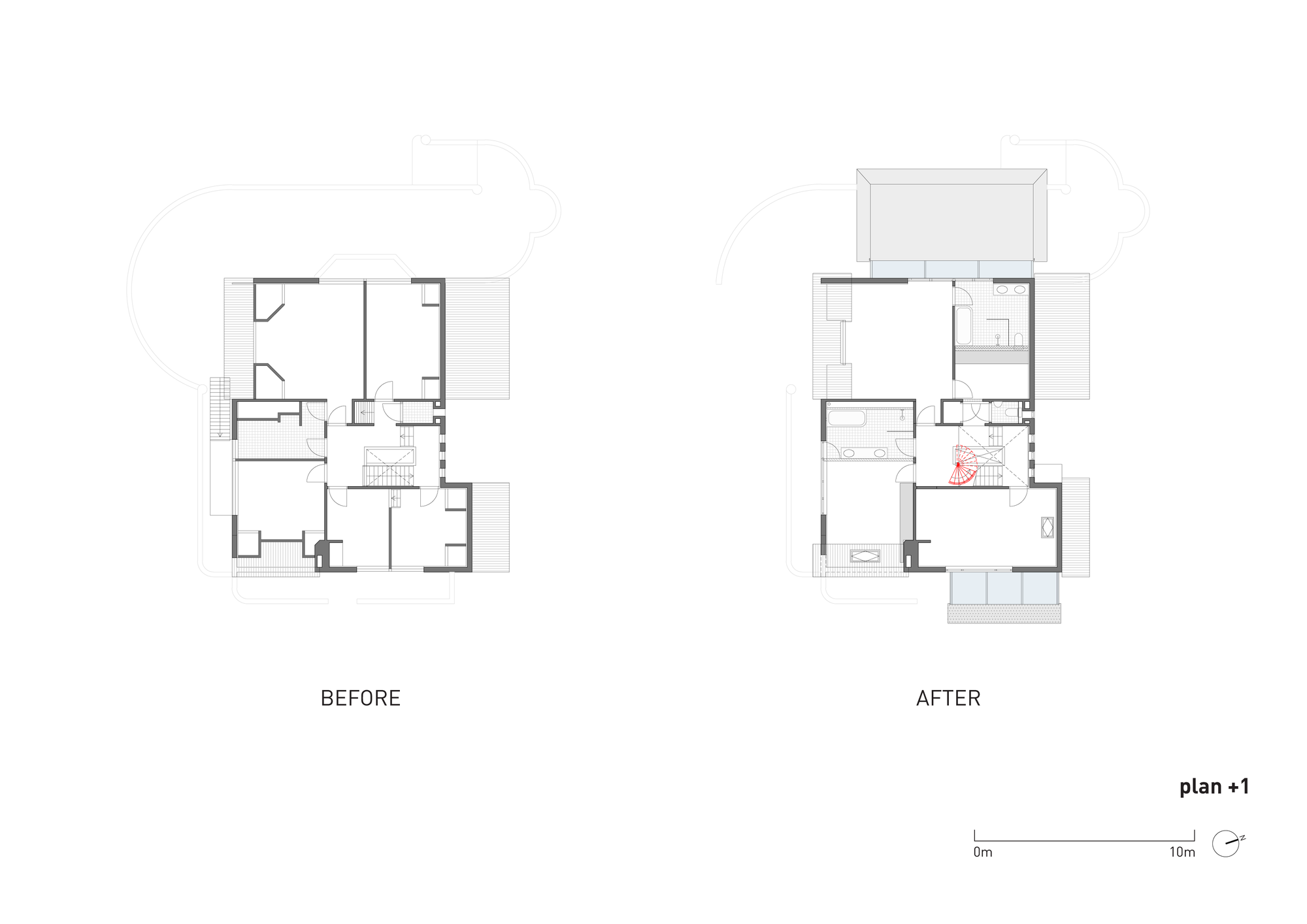Floor Plan Friday Kids At The Back Parents At The Front further Piante Castelli likewise House plans narrow sloping lots moreover House plans n moreover Front back split level house plans. on carriage house interiors
