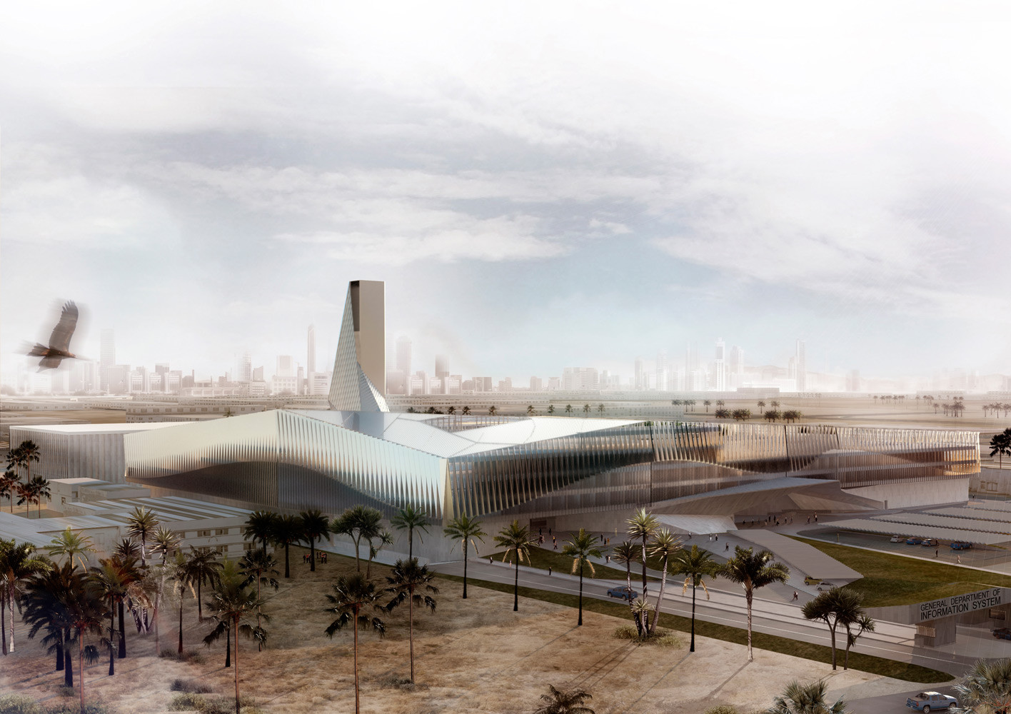 General Department of the Information System Competition Entry / AGi Architects + Bonyan Design, © Impresiones de Arquitectura