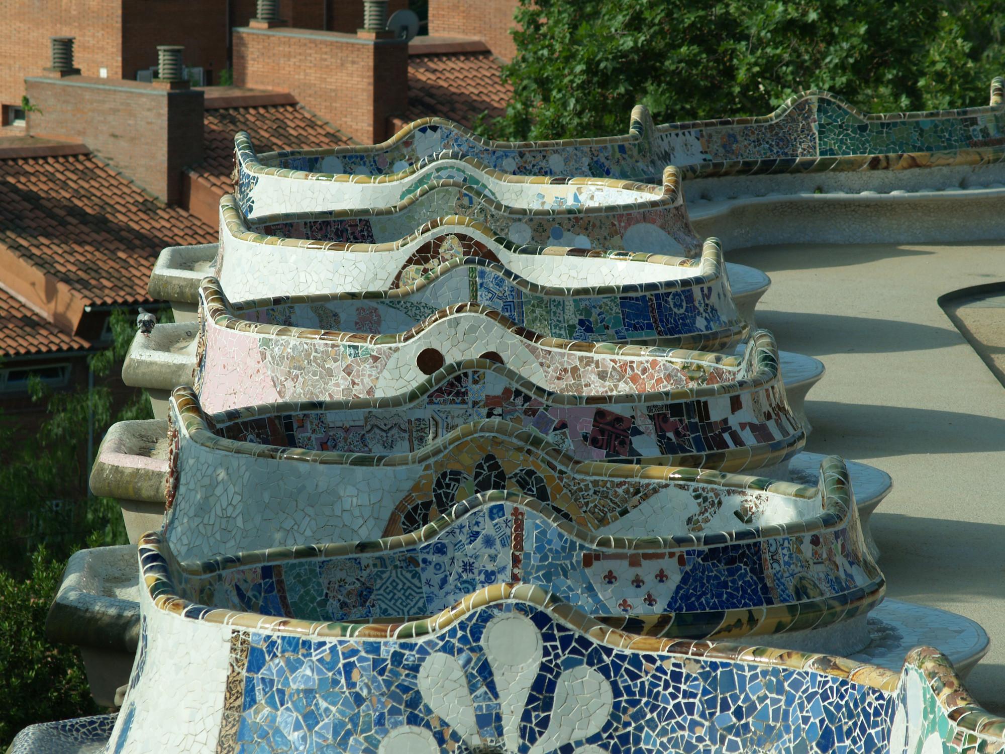 © Restauración Parc Guell © Ceramica Cumella