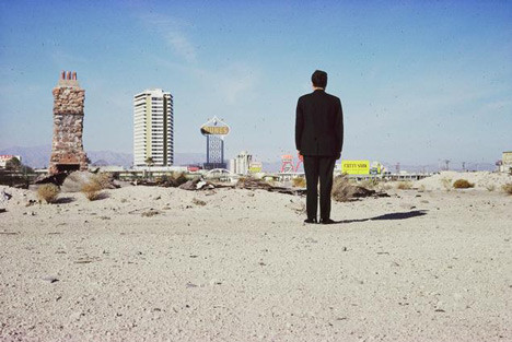Robert Venturi outside Las Vegas in 1966; photograph from the Archives of Robert Venturi and Denise Scott Brown © Frank Hanswijk