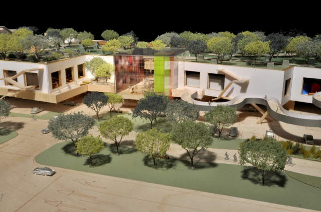 Frank Gehry's Facebook HQ Wins Approval, © Gehry Partners LLP via Menlo Park City Council