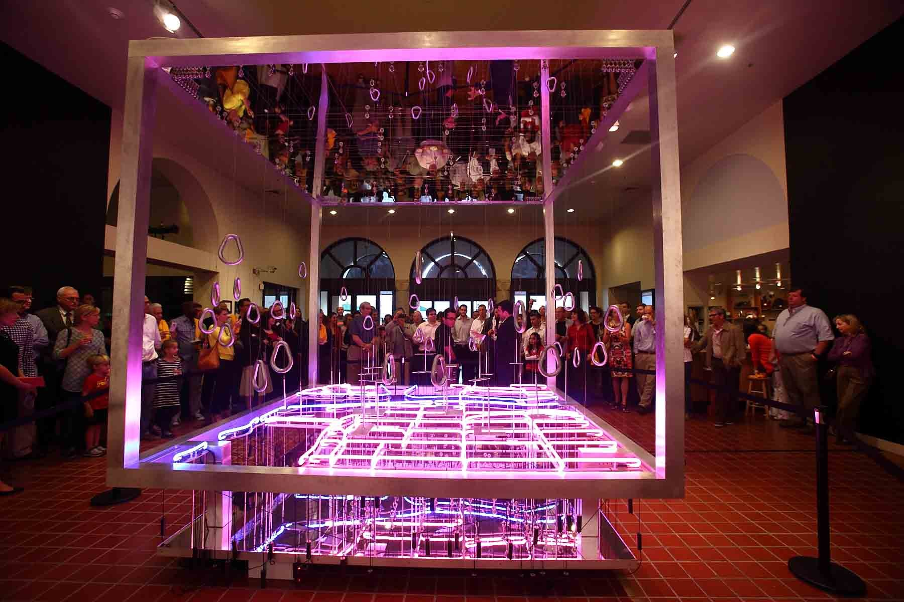 'Up-Downtown' DawnTown's 2012 Competition Winning Installation, Courtesy of HistoryMiami