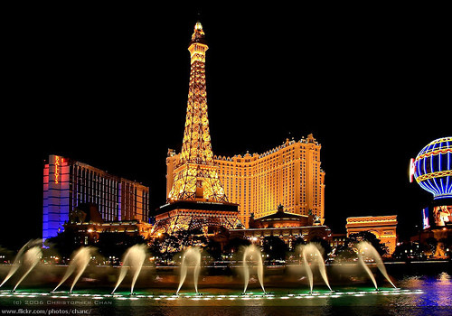 The Eiffel Tower in Las Vegas. Image © Flickr User CC Christopher Chen. Used under <a href='https://creativecommons.org/licenses/by-sa/2.0/'>Creative Commons</a>