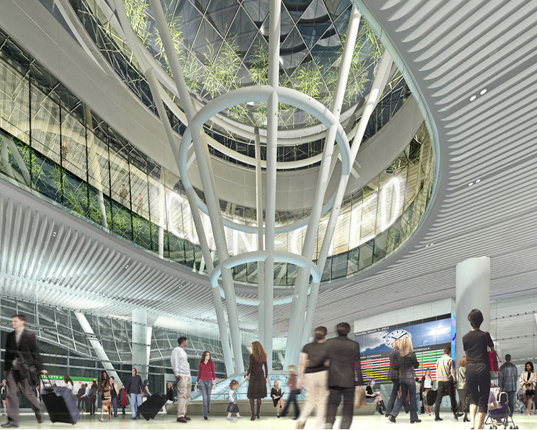Transbay Transit Center Interior; © Pelli Clarke Pelli / Transbay Joint Powers Authority