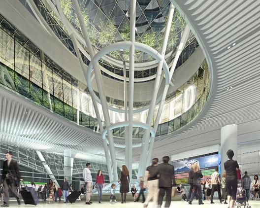 Transbay Transit Center Interior; © Pelli Clarke Pelli / Transbay Joint Powers Authority