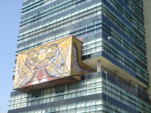 Mural Siqueiros. Image Cortesía UNAM