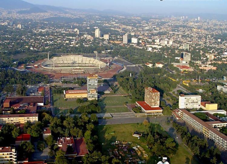 Vista aérea actual de CU. Image Cortesía INEHRM