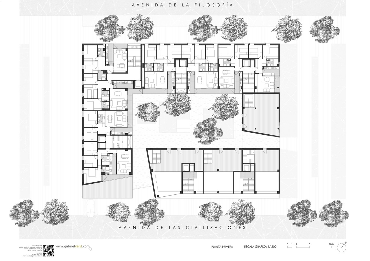 Gallery of 46 social houses gabriel verd 23 for Plan social