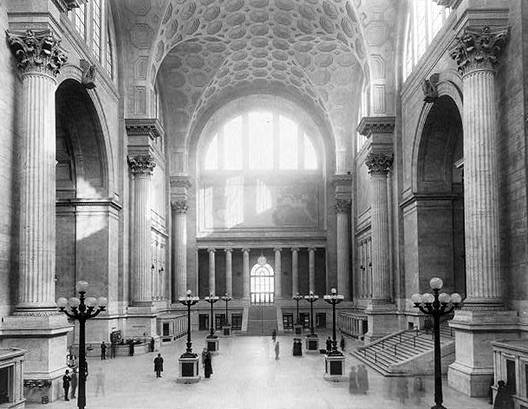 Penn Station in 1911. Image via <a href='https://creativecommons.org/licenses/by-sa/3.0/'>Wikimedia</a> Commons.