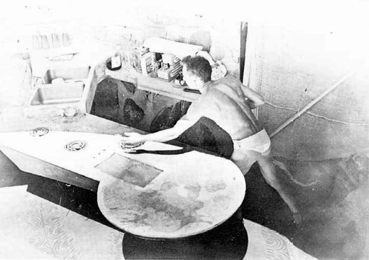 In the kitchen. Courtesy of Paolo Soleri