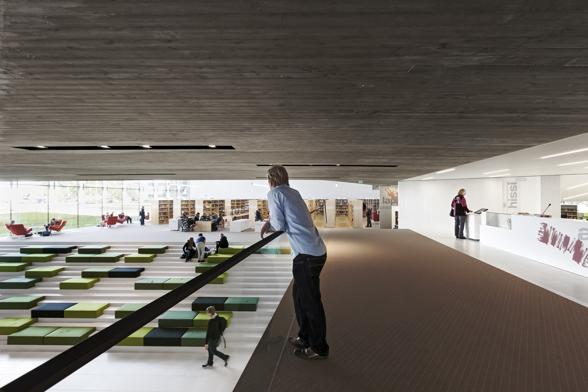 Gallery of city library in sein joki jkmm architects 14 for Biblioteca arquitectura