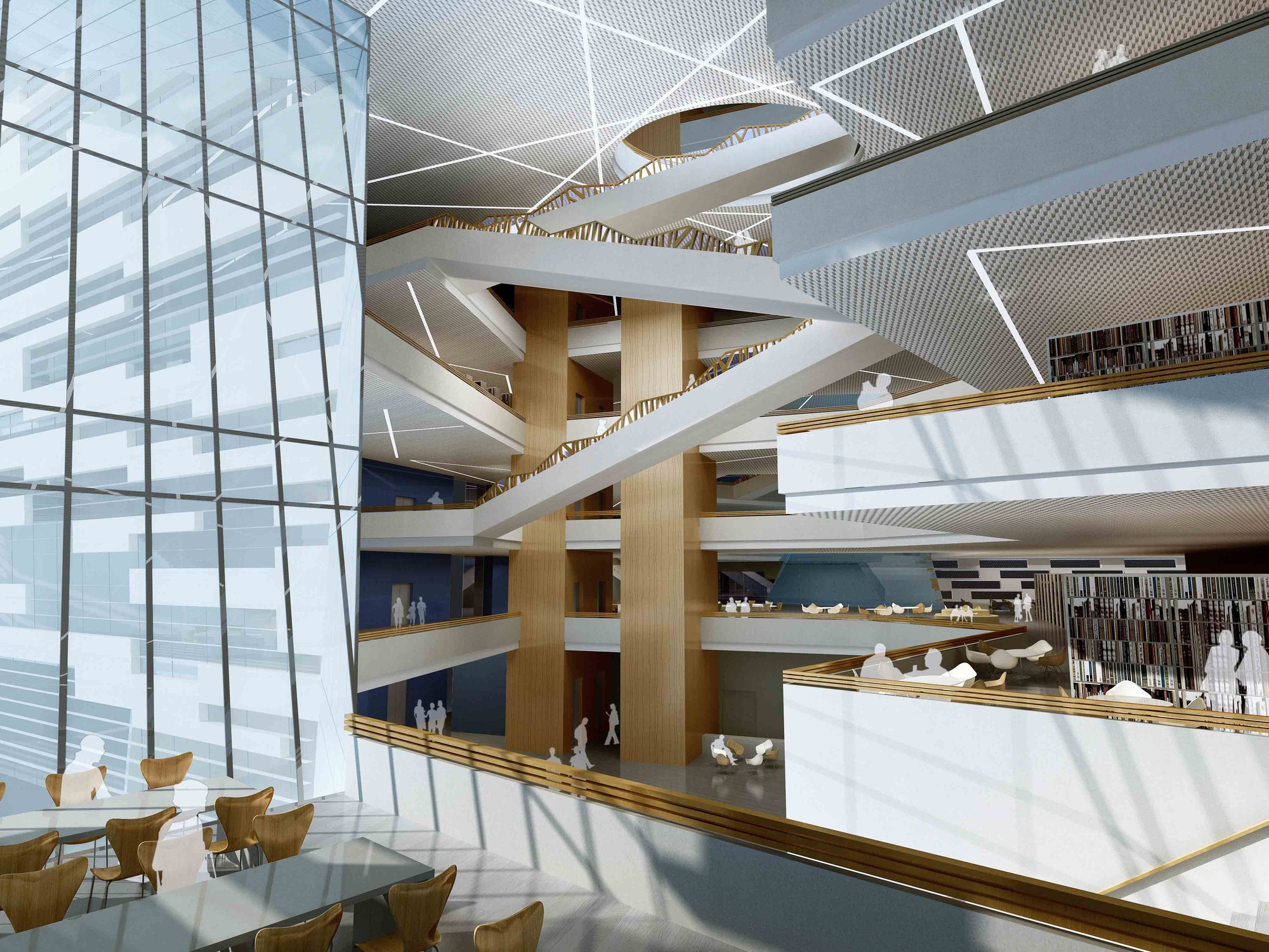 Gallery of hebei university library winning proposal for Modern library building design