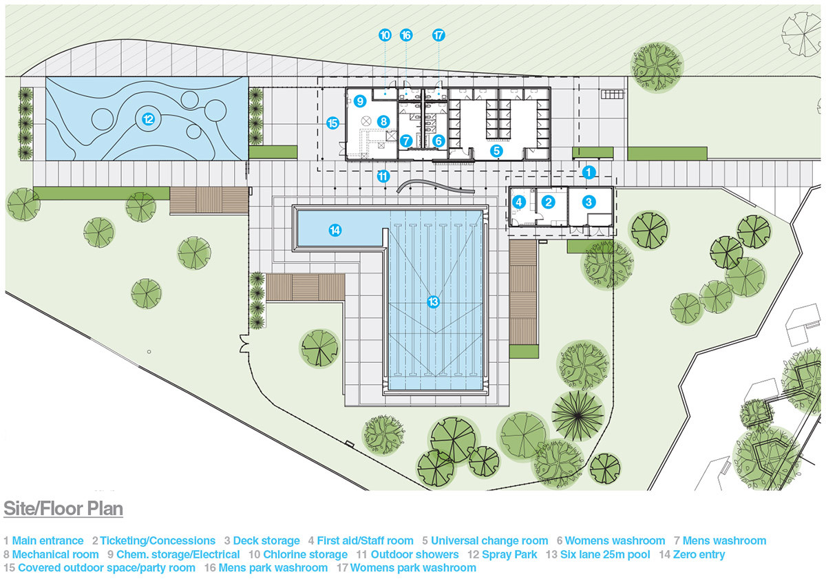 Queen elizabeth outdoor pool group2 architecture for Swimming pool plan layout