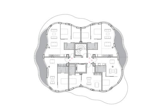 Unit 1 © Farshid Moussavi Architecture