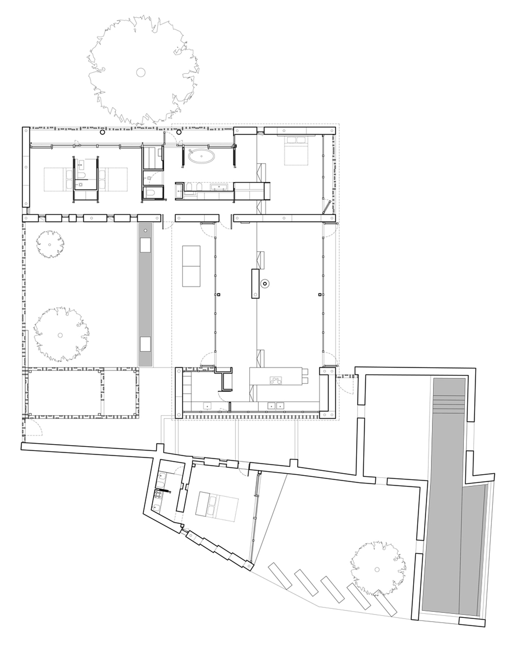 galeria de casa de pedra carl fredrik svenstedt architect 13. Black Bedroom Furniture Sets. Home Design Ideas