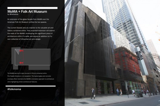 A crowd-sourced idea of how to save the American Folk Art Museum. Courtesy of the Tumblr #FolkMoMA