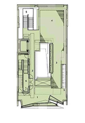 Gallery Floor Plan courtesy of Tod Williams & Billie Tsien Architects