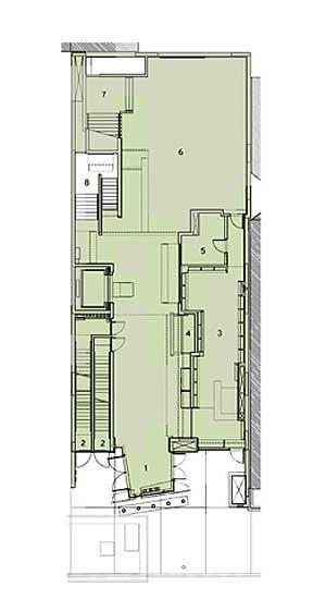 Ground Floor Plan courtesy of Tod Williams & Billie Tsien Architects