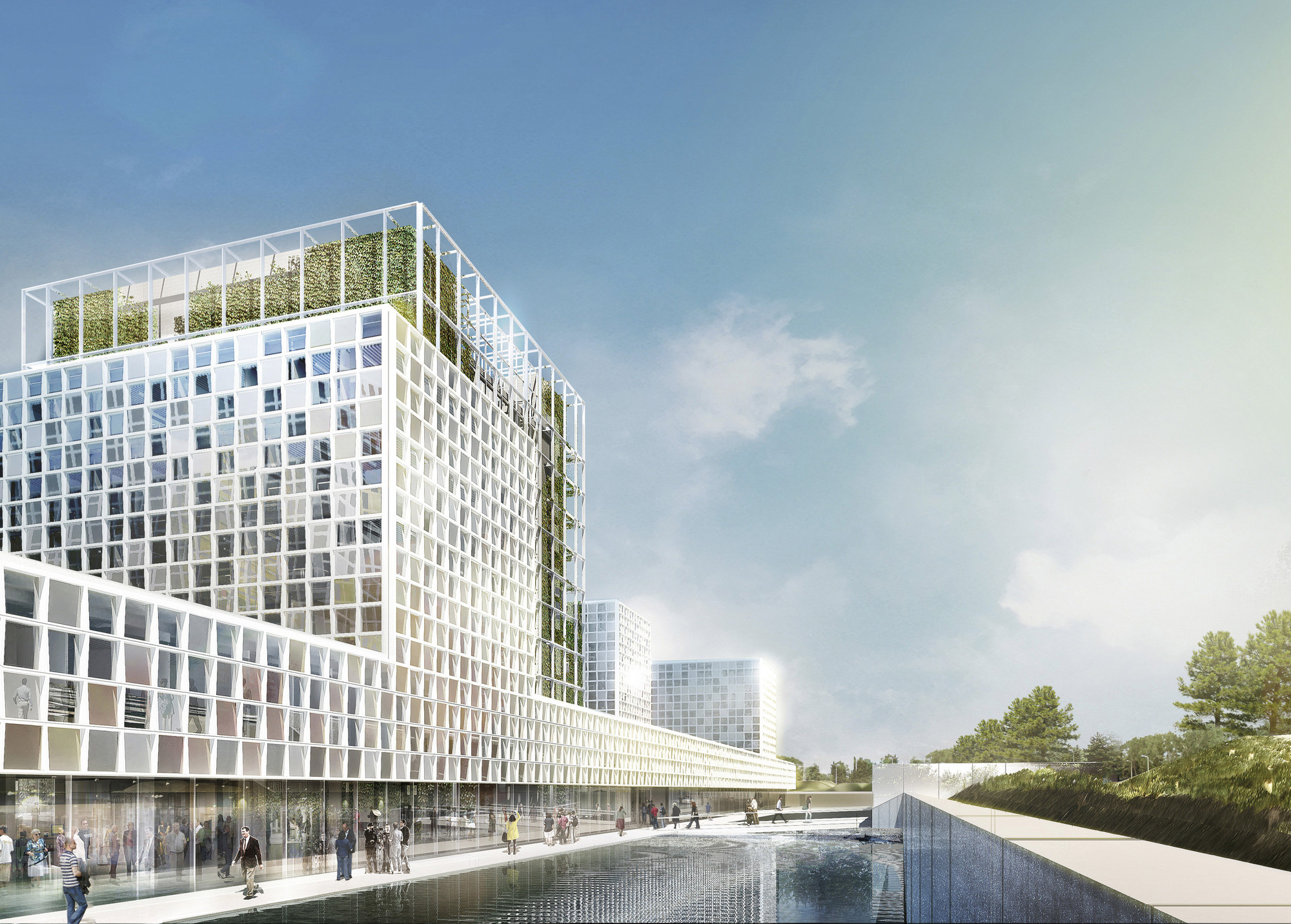 International criminal court ground breaking schmidt for Cout plan architecte