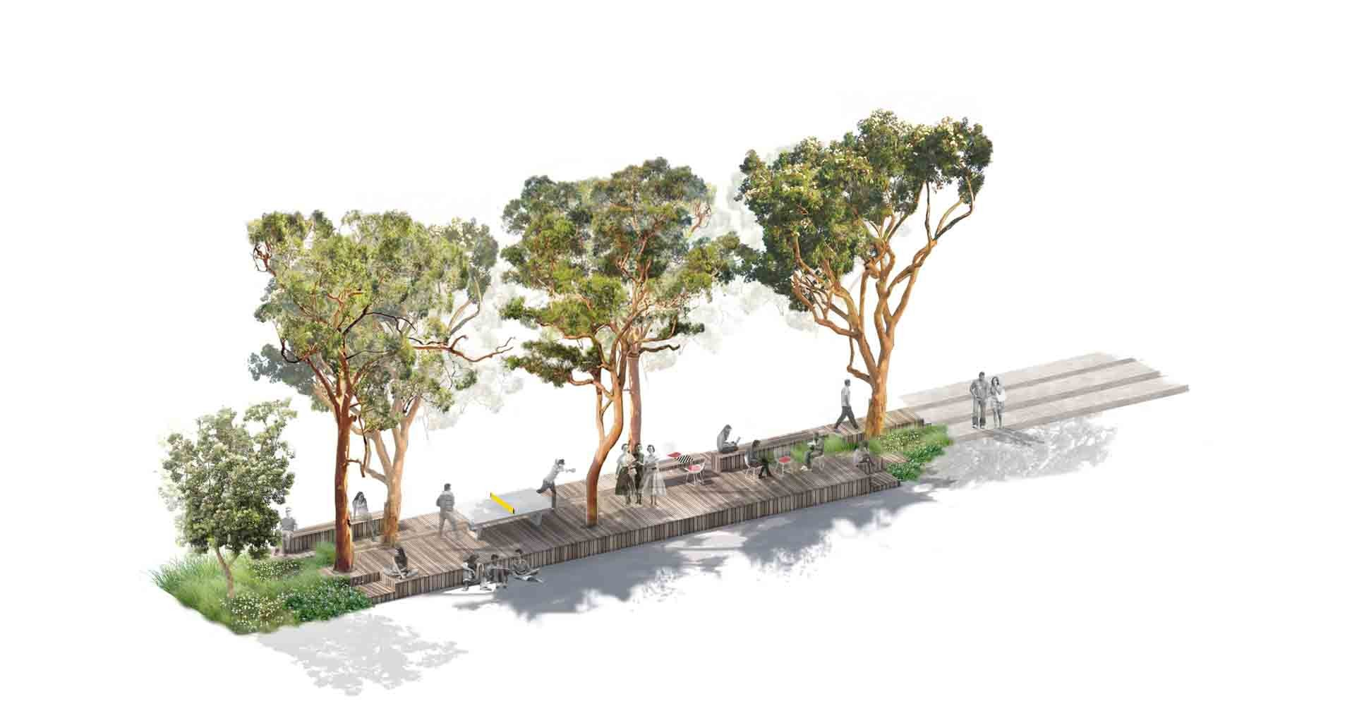 Gallery of unsw alumni park competition entry aspect for Aspect landscape