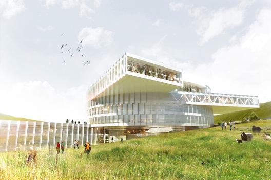 BIG parte la construcción del Centro Educacional en las Islas Faroe, Cortesía de BIG
