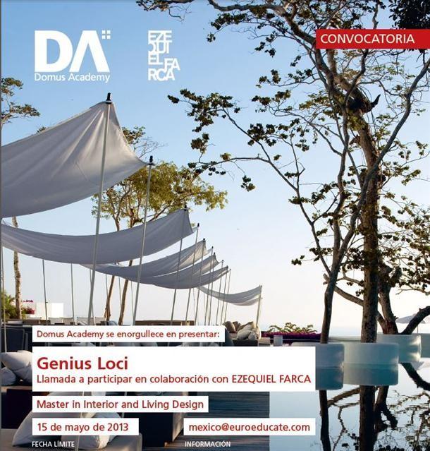 Convocatoria Beca GENIUS LOCI para el Master in Interior and Living Design / Domus Academy + Ezequiel Farca, Courtesy of Domus Academy