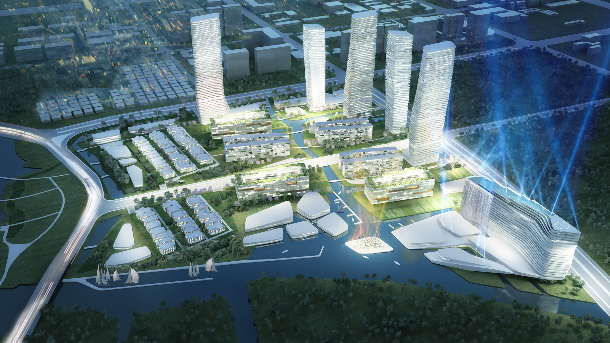 Wuxi Masterplan Mixed Use Building Complex Proposal
