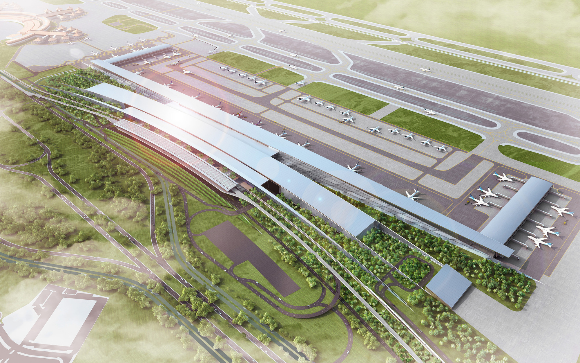 Soekarno Hatta International Airport Terminal 3 Winning Proposal / Woodhead, Courtesy of Woodhead