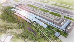 Proposta vencedora do concursoTerminal 3 do Soekarno Hatta Aeroporto International  / Woodhead