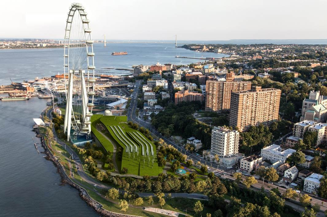 Visionaries: The New York Wheel, The New York Wheel - Eastern View / Courtesy of Trespa Design Centre