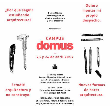 Campus Domus en TEC CCM + UNAM, Courtesy of Domus México