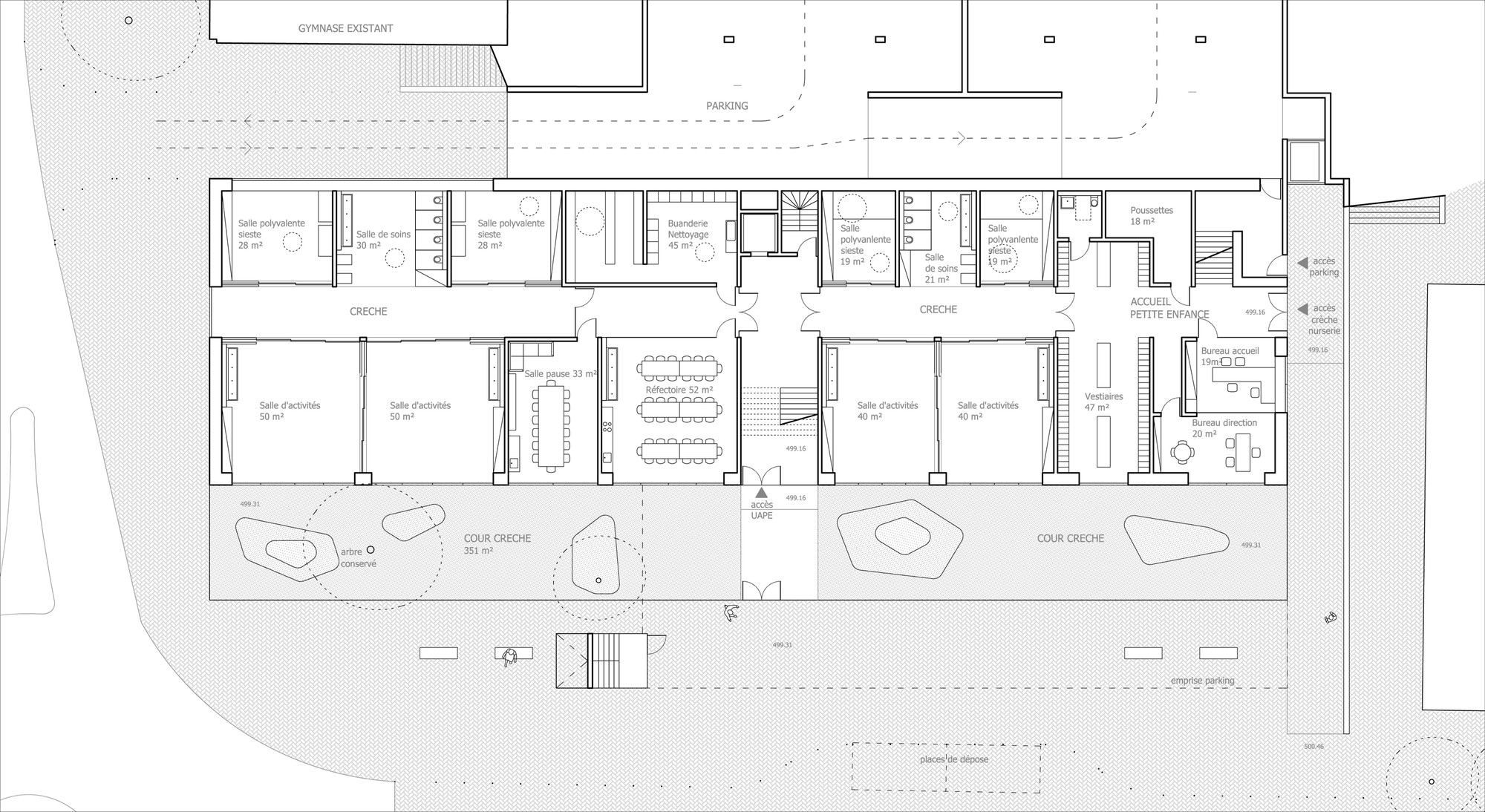 superpose school extension competition entry overcode ground floor two bedroom victorian flat floor plan side