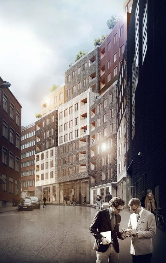 'Paradiset 19-21' Housing Proposal / Kjellander + Sjöberg Architects, Courtesy of Kjellander + Sjöberg Architects