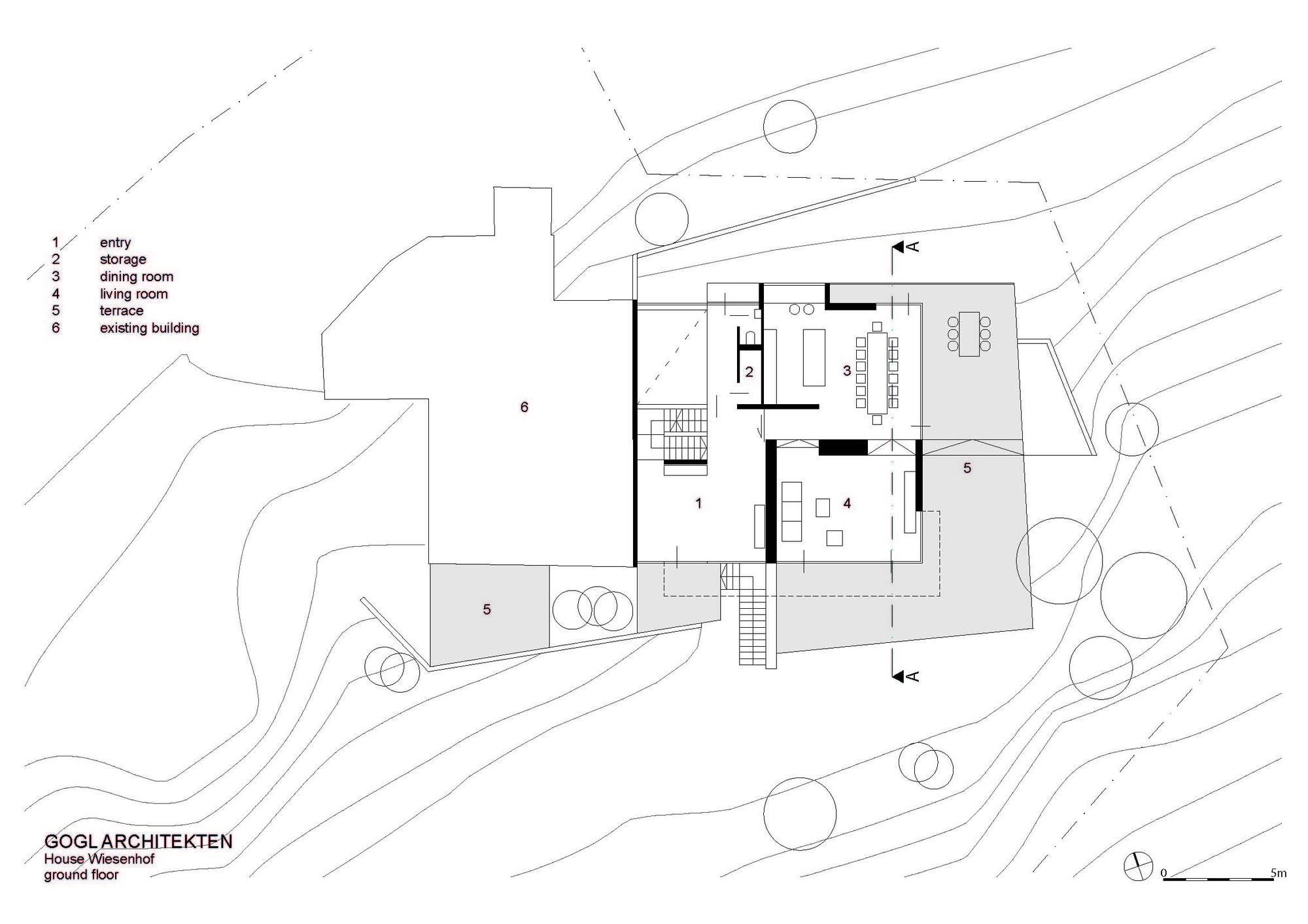 Gallery of haus wiesenhof gogl architekten 18 for Haus plan