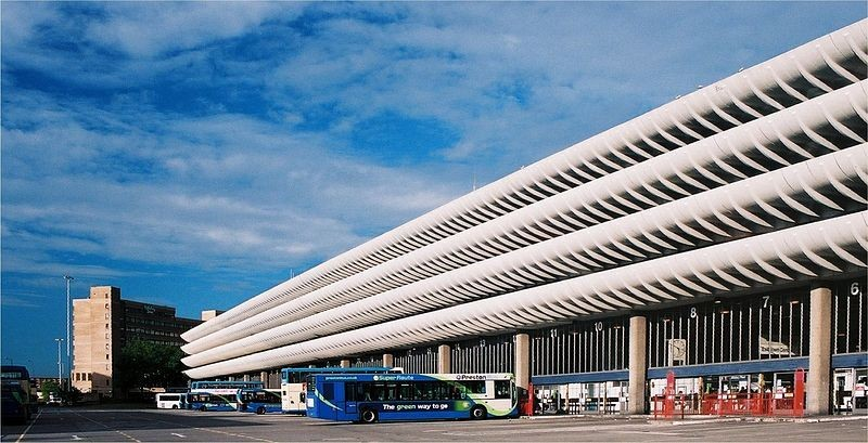 Preston Bus Station. Image Courtesy of <a href='https://creativecommons.org/licenses/by-sa/3.0/'>Wikimedia</a> Commons