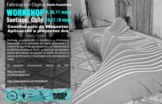 Workshop Fabricación digital y Diseño paramétrico - Santiago de Chile / ChidoStudio ¡Sorteamos un cupo!, Courtesy of Chido Studio