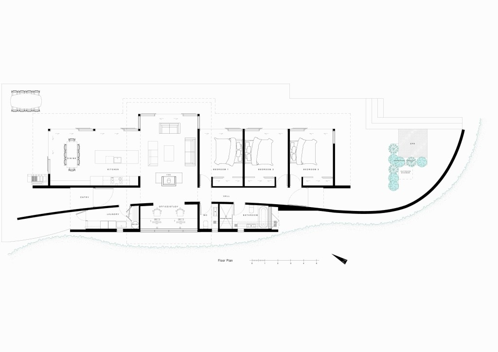 Porotu bach studio mwa archdaily for Bach floor plans