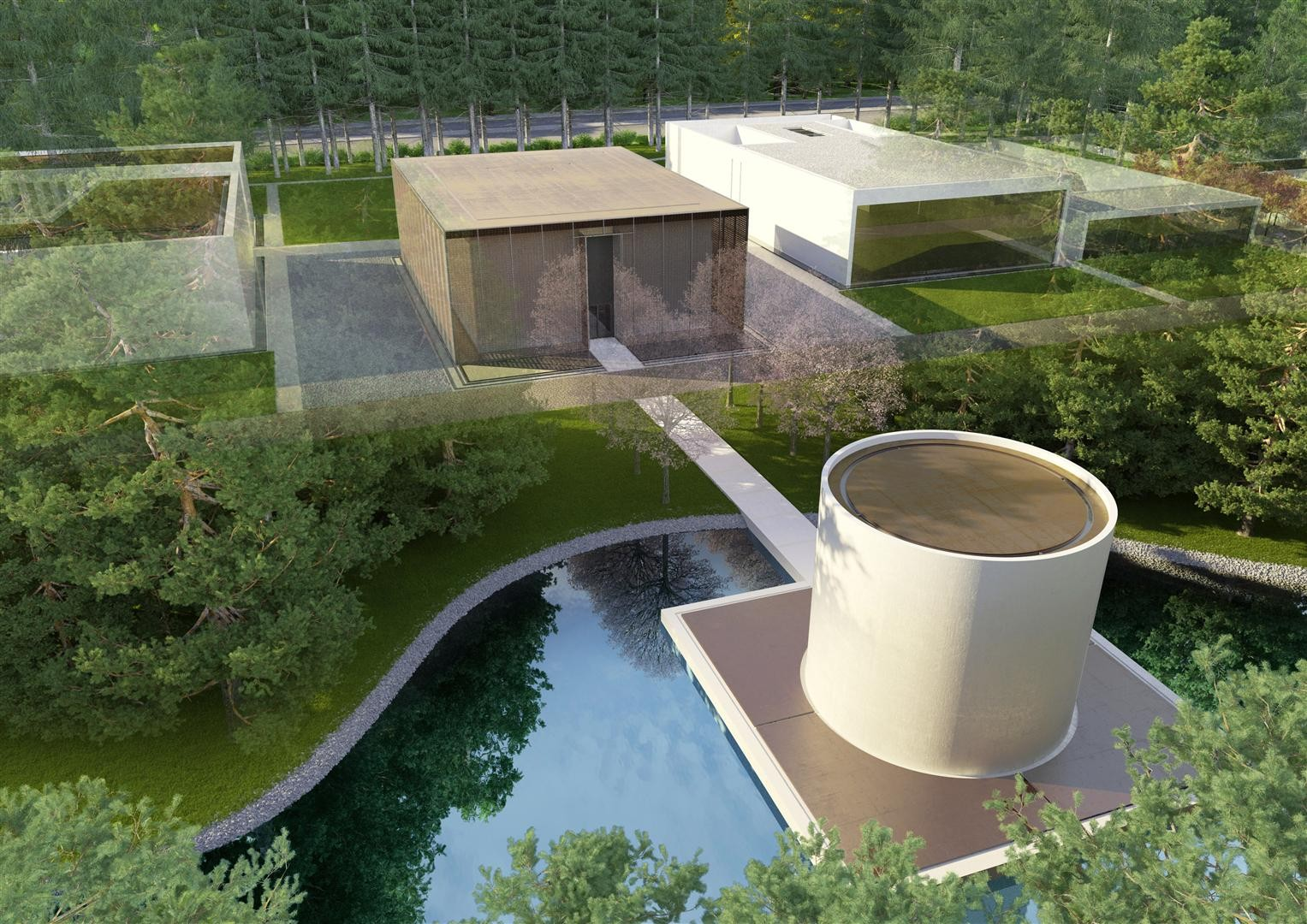 Gallery Of Famen Temple Zen Meditation Center Winning Proposal Oac