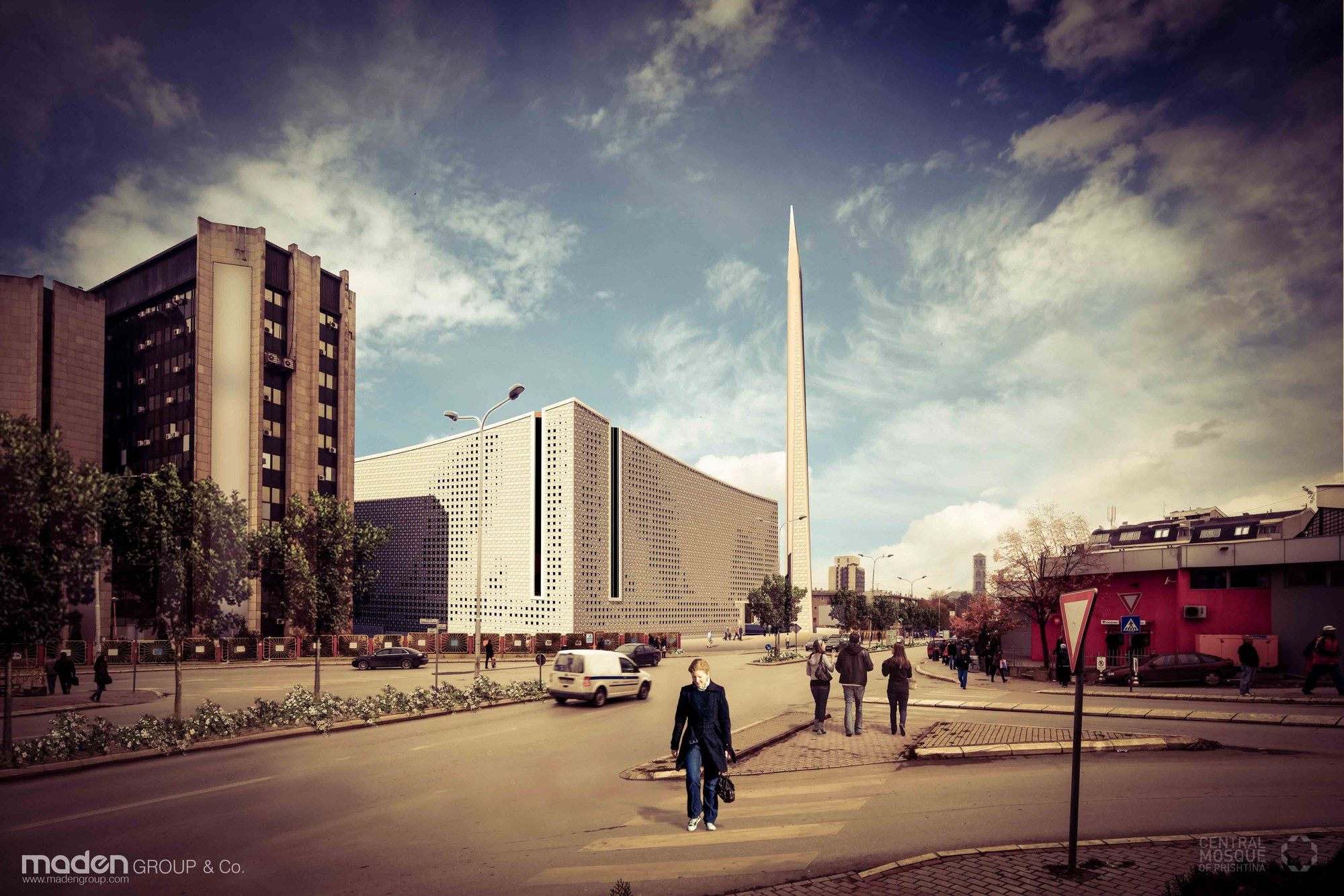 Central Mosque of Pristina Competition Entry / Maden GROUP, Courtesy of Maden GROUP
