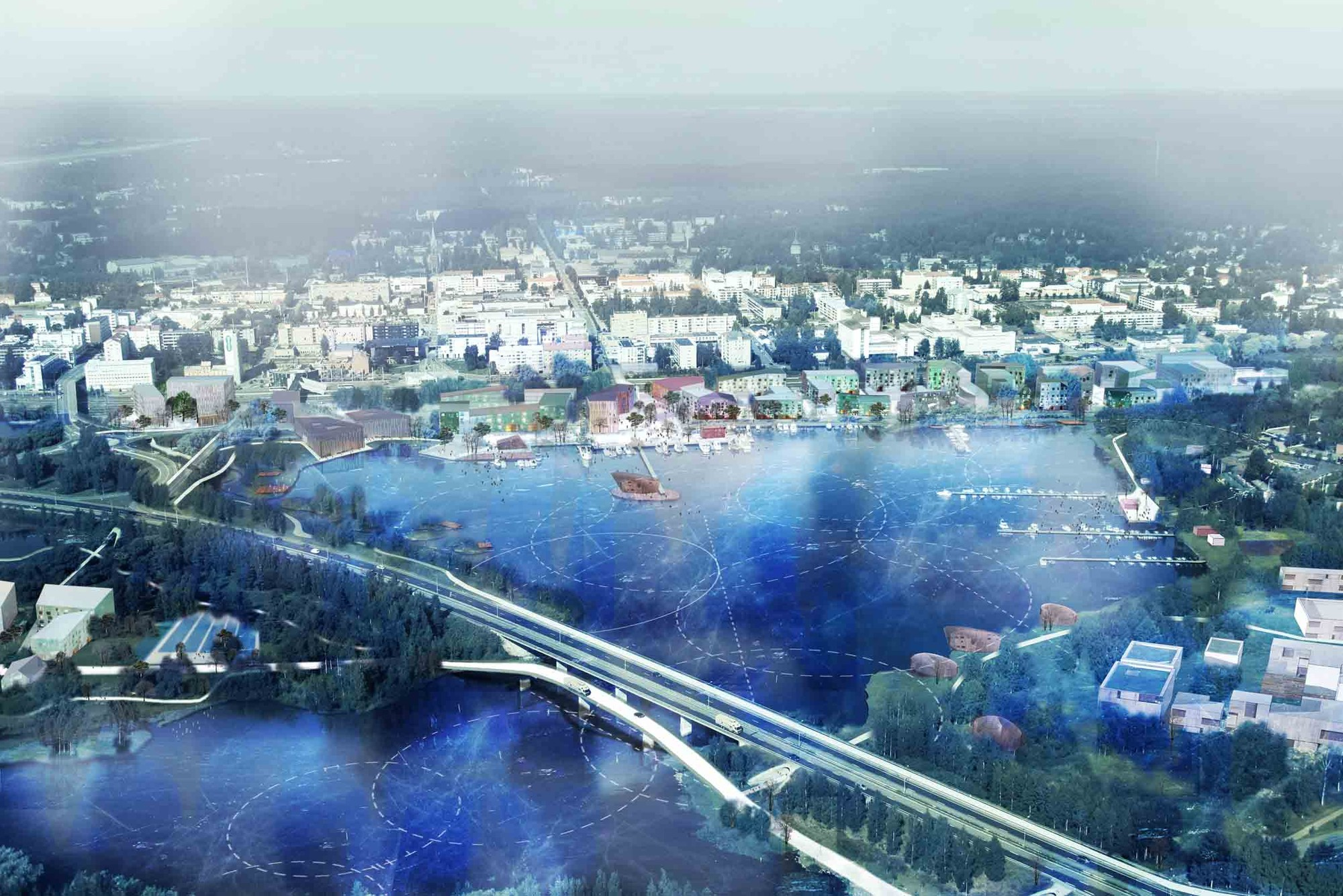 'Resilient Mikkeli' Third Prize Winning Proposal / Mandaworks + Hosper Sweden, Courtesy of Mandaworks + Hosper Sweden