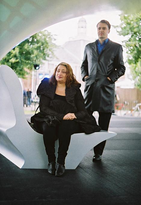Zaha Hadid and Patrik Schumacher. Image © Sylvain Deleu www.sylvaindeleu.com