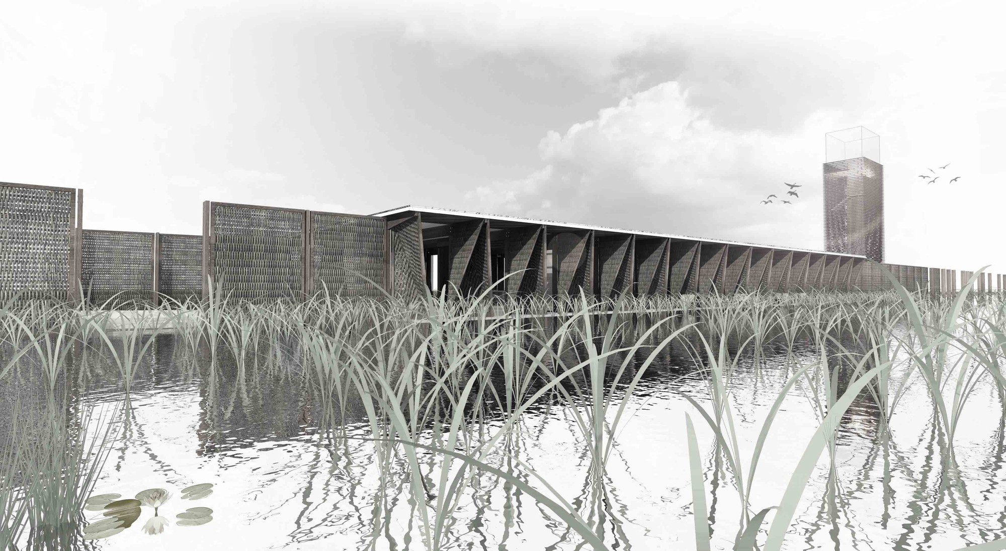 'The Fenland Beacon': Great Fen Visitor Center Competition Entry / Nicholas Hare Architects, Courtesy of Nicholas Hare Architects